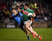 1 February 2020; Lee Keegan of Mayo in action against Eoin Murchan of Dublin during the Allianz Football League Division 1 Round 2 match between Mayo and Dublin at Elverys MacHale Park in Castlebar, Mayo. Photo by Harry Murphy/Sportsfile