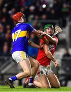 1 February 2020; Seamus Harnedy of Cork is tackled by Jerome Cahill of Tipperary during the Allianz Hurling League Division 1 Group A Round 2 match between Cork and Tipperary at Páirc Uí Chaoimh in Cork. Photo by Eóin Noonan/Sportsfile