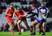 1 February 2020; Cliona Healy of Cork is tackled by Iona Heffernan of Waterford during the Littlewoods Ireland National Camogie League Division 1 match between Cork and Waterford at Páirc Uí Chaoimh in Cork. Photo by Eóin Noonan/Sportsfile