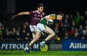 1 February 2020; Paul Geaney of Kerry in action against Cillian McDaid of Galway during the Allianz Football League Division 1 Round 2 match between Kerry and Galway at Austin Stack Park in Tralee, Kerry. Photo by Diarmuid Greene/Sportsfile