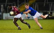 1 February 2020; Boidu Sayeh of Westmeath in action against Ciaran Brady of Cavan during the Allianz Football League Division 2 Round 2 match between Cavan and Westmeath at Kingspan Breffni in Cavan. Photo by Oliver McVeigh/Sportsfile