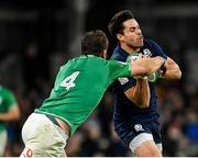 1 February 2020; Sean Maitland of Scotland is tackled by Iain Henderson of Ireland during the Guinness Six Nations Rugby Championship match between Ireland and Scotland at the Aviva Stadium in Dublin. Photo by Seb Daly/Sportsfile