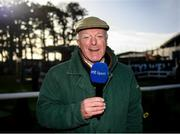 2 February 2020; RTÉ presenter Robert Hall prior to the start of Day Two of the Dublin Racing Festival at Leopardstown Racecourse in Dublin. Photo by Harry Murphy/Sportsfile