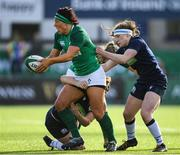 2 February 2020; Lindsay Peat of Ireland and Leah Bartlett, left, and Emma Wassell of Scotland during the Women's Six Nations Rugby Championship match between Ireland and Scotland at Energia Park in Donnybrook, Dublin. Photo by Ramsey Cardy/Sportsfile