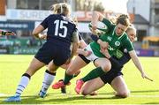 2 February 2020; Lauren Delany of Ireland and Mairi McDonald of Scotland during the Women's Six Nations Rugby Championship match between Ireland and Scotland at Energia Park in Donnybrook, Dublin. Photo by Ramsey Cardy/Sportsfile