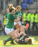 2 February 2020; Michelle Claffey of Ireland and Hannah Smith of Scotland during the Women's Six Nations Rugby Championship match between Ireland and Scotland at Energia Park in Donnybrook, Dublin. Photo by Ramsey Cardy/Sportsfile