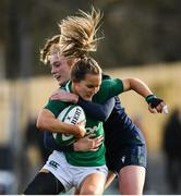 2 February 2020; Aoife Doyle of Ireland is tackled by Megan Gaffney of Scotland during the Women's Six Nations Rugby Championship match between Ireland and Scotland at Energia Park in Donnybrook, Dublin. Photo by Ramsey Cardy/Sportsfile