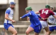 2 February 2020; Waterford goalkeeper Billy Nolan gets past Darragh Clinton of Westmeath, 14, during the Allianz Hurling League Division 1 Group A Round 2 match between Westmeath and Waterford at TEG Cusack Park in Mullingar, Westmeath. Photo by Piaras Ó Mídheach/Sportsfile