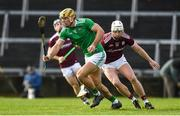 2 February 2020; Dan Morrissey of Limerick in action against Joe Canning of Galway during the Allianz Hurling League Division 1 Group A Round 2 match between Limerick and Galway at LIT Gaelic Grounds in Limerick. Photo by Diarmuid Greene/Sportsfile