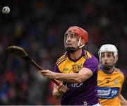 2 February 2020; Paul Morris of Wexford in action against Jack Browne of Clare during the Allianz Hurling League Division 1 Group B Round 2 match between Wexford and Clare at Chadwicks Wexford Park in Wexford. Photo by Ray McManus/Sportsfile