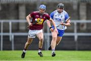 2 February 2020; Joey Boyle of Westmeath in action against Iarlaith Daly of Waterford during the Allianz Hurling League Division 1 Group A Round 2 match between Westmeath and Waterford at TEG Cusack Park in Mullingar, Westmeath. Photo by Piaras Ó Mídheach/Sportsfile