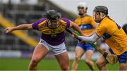 2 February 2020; Conor McDonald of Wexford in action against Eoin Quirke of Clare during the Allianz Hurling League Division 1 Group B Round 2 match between Wexford and Clare at Chadwicks Wexford Park in Wexford. Photo by Ray McManus/Sportsfile