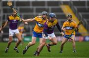 2 February 2020; Kevin Foley of Wexford in action against David McInerney of Clare during the Allianz Hurling League Division 1 Group B Round 2 match between Wexford and Clare at Chadwicks Wexford Park in Wexford. Photo by Ray McManus/Sportsfile