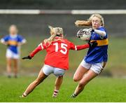 2 February 2020; Emma Morrissey of Tipperary is tackled by Orla Finn of Cork during the 2020 Lidl Ladies National Football League Division 1 Round 2 match between Tipperary and Cork at Ardfinnan in Clonmel, Tipperary. Photo by Eóin Noonan/Sportsfile
