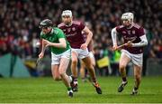 2 February 2020; Declan Hannon of Limerick in action against Jason Flynn and Cathal Mannion of Galway during the Allianz Hurling League Division 1 Group A Round 2 match between Limerick and Galway at LIT Gaelic Grounds in Limerick. Photo by Diarmuid Greene/Sportsfile