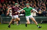2 February 2020; William O'Donoghue of Limerick in action against Adrian Tuohy of Galway during the Allianz Hurling League Division 1 Group A Round 2 match between Limerick and Galway at LIT Gaelic Grounds in Limerick. Photo by Diarmuid Greene/Sportsfile