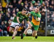 2 February 2020; Joey Wallace of Meath in action against Neil McGee of Donegal during the Allianz Football League Division 1 Round 2 match between Meath and Donegal at Páirc Tailteann in Navan, Meath. Photo by Daire Brennan/Sportsfile