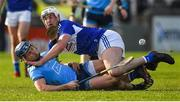 2 February 2020; David Keogh of Dublin in action against Ryan Mullaney of Laois during the Allianz Hurling League Division 1 Group B Round 2 match between Dublin and Laois at Parnell Park in Dublin. Photo by Brendan Moran/Sportsfile