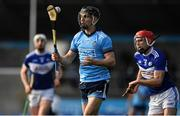 2 February 2020; Danny Sutcliffe of Dublin in action against Jack Kelly of Laois during the Allianz Hurling League Division 1 Group B Round 2 match between Dublin and Laois at Parnell Park in Dublin. Photo by Brendan Moran/Sportsfile