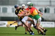 2 February 2020; Ger Aylward of Kilkenny in action against David English of Carlow during the Allianz Hurling League Division 1 Group B Round 2 match between Carlow and Kilkenny at Netwatch Cullen Park in Carlow. Photo by David Fitzgerald/Sportsfile