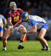 2 February 2020; Patrick Curran of Waterford in action against Shane Clavin of Westmeath during the Allianz Hurling League Division 1 Group A Round 2 match between Westmeath and Waterford at TEG Cusack Park in Mullingar, Westmeath. Photo by Piaras Ó Mídheach/Sportsfile