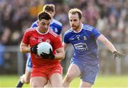 2 February 2020; Ronan O'Neill of Tyrone in action against Conor Boyle of Monaghan during the Allianz Football League Division 1 Round 2 match between Monaghan and Tyrone at St. Mary's Park in Castleblayney, Monaghan. Photo by Oliver McVeigh/Sportsfile