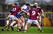 2 February 2020; Iarlaith Daly of Waterford in action against Westmeath players, from left, Niall Mitchell, Joey Boyle, 10, Eoin Price, 9, and Aaron Craig during the Allianz Hurling League Division 1 Group A Round 2 match between Westmeath and Waterford at TEG Cusack Park in Mullingar, Westmeath. Photo by Piaras Ó Mídheach/Sportsfile
