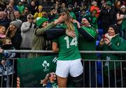 2 February 2020; Aoife Doyle of Ireland with family following the Women's Six Nations Rugby Championship match between Ireland and Scotland at Energia Park in Donnybrook, Dublin. Photo by Ramsey Cardy/Sportsfile