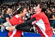 2 February 2020; Sally Dalton, left, and Ciara Griffin of Loreto Beaufort celebrate following the Leinster Hockey Schoolgirls Senior Cup Final match between Newpark Comprehensive and Loreto Beaufort at the National Hockey Stadium in UCD, Dublin. Photo by Sam Barnes/Sportsfile