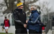 2 February 2020; Kilkenny manager Brian Cody, left, and Carlow manager Colm Bonnar following the Allianz Hurling League Division 1 Group B Round 2 match between Carlow and Kilkenny at Netwatch Cullen Park in Carlow. Photo by David Fitzgerald/Sportsfile