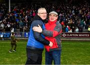 2 February 2020; Clare manager Brian Lohan is congratulated by a supporter after the Allianz Hurling League Division 1 Group B Round 2 match between Wexford and Clare at Chadwicks Wexford Park in Wexford. Photo by Ray McManus/Sportsfile