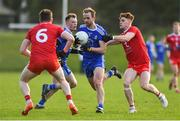 2 February 2020; Conor Boyle of Monaghan in action against Conor Meyler of Tyrone during the Allianz Football League Division 1 Round 2 match between Monaghan and Tyrone at St. Mary's Park in ?Castleblayney, Monaghan. Photo by Oliver McVeigh/Sportsfile
