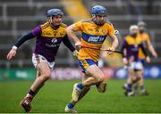 2 February 2020; Shane O'Donnell of Clare in action against Kevin Foley of Wexford during the Allianz Hurling League Division 1 Group B Round 2 match between Wexford and Clare at Chadwicks Wexford Park in Wexford. Photo by Ray McManus/Sportsfile
