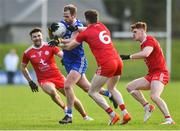 2 February 2020; Conor Boyle of Monaghan in action against Tiernan McCann, Rory Brennan and Conor Meyler of Tyrone during the Allianz Football League Division 1 Round 2 match between Monaghan and Tyrone at St. Mary's Park in ?Castleblayney, Monaghan. Photo by Oliver McVeigh/Sportsfile