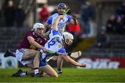 2 February 2020; Jack Fagan of Waterford is fouled by Adam Ennis of Westmeath for a penalty during the Allianz Hurling League Division 1 Group A Round 2 match between Westmeath and Waterford at TEG Cusack Park in Mullingar, Westmeath. Photo by Piaras Ó Mídheach/Sportsfile