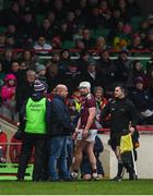 2 February 2020; Joe Canning of Galway leaves the field after picking up an injury during the Allianz Hurling League Division 1 Group A Round 2 match between Limerick and Galway at LIT Gaelic Grounds in Limerick. Photo by Diarmuid Greene/Sportsfile