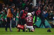 2 February 2020; Joe Canning of Galway receives medical attention before being substituted during the Allianz Hurling League Division 1 Group A Round 2 match between Limerick and Galway at LIT Gaelic Grounds in Limerick. Photo by Diarmuid Greene/Sportsfile