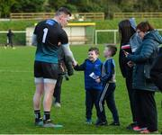 2 February 2020; Rory Beggan of Monaghan surrounded by young supporters as he comes off the field after the Allianz Football League Division 1 Round 2 match between Monaghan and Tyrone at St. Mary's Park in Castleblayney, Monaghan. Photo by Oliver McVeigh/Sportsfile