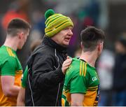 2 February 2020; Donegal manager Declan Bonner celebrates with Andrew McClean of Donegal after the Allianz Football League Division 1 Round 2 match between Meath and Donegal at Páirc Tailteann in Navan, Meath. Photo by Daire Brennan/Sportsfile