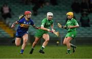2 February 2020; Caoimhe Costelloe of Limerick in action against Karen Kennedy of Tipperary during the Littlewoods Ireland National Camogie League Division 1 match between Limerick and Tipperary at LIT Gaelic Grounds in Limerick. Photo by Diarmuid Greene/Sportsfile