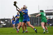 2 February 2020; Nicole Walsh of Tipperary in action against Karen O'Leary, left, and Katie Hennessy of Limerick during the Littlewoods Ireland National Camogie League Division 1 match between Limerick and Tipperary at LIT Gaelic Grounds in Limerick. Photo by Diarmuid Greene/Sportsfile
