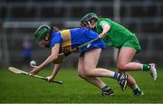 2 February 2020; Roisin Howard of Tipperary in action against Katie Hennessy of Limerick during the Littlewoods Ireland National Camogie League Division 1 match between Limerick and Tipperary at LIT Gaelic Grounds in Limerick. Photo by Diarmuid Greene/Sportsfile