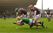 2 February 2020; Darren O'Connell of Limerick in action against Aidan Harte, left, and TJ Brennan of Galway during the Allianz Hurling League Division 1 Group A Round 2 match between Limerick and Galway at LIT Gaelic Grounds in Limerick. Photo by Diarmuid Greene/Sportsfile