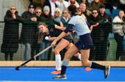 2 February 2020; Ana Kennedy of Loreto Beaufort in action against Jennifer Sheeran of Newpark Comprehensive during the Leinster Hockey Schoolgirls Senior Cup Final match between Newpark Comprehensive and Loreto Beaufort at the National Hockey Stadium in UCD, Dublin. Photo by Sam Barnes/Sportsfile