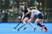2 February 2020; Emily Kealy of Loreto Beaufort  in action against Milly Lynch of Newpark Comprehensive during the Leinster Hockey Schoolgirls Senior Cup Final match between Newpark Comprehensive and Loreto Beaufort at the National Hockey Stadium in UCD, Dublin. Photo by Sam Barnes/Sportsfile