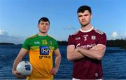 3 February 2020; Sean Mulkerrin of Galway, right, and Jamie Brennan of Donegal pictured at Donegal Harbour during a Media Event in advance of the Allianz Football League Division 1 Round 3 match between Donegal and Galway on Sunday. Photo by Sam Barnes/Sportsfile