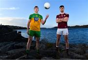 3 February 2020; Jamie Brennan of Donegal, left, and Sean Mulkerrin of Galway pictured at Donegal Harbour during a Media Event in advance of the Allianz Football League Division 1 Round 3 match between Donegal and Galway on Sunday. Photo by Sam Barnes/Sportsfile