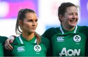2 February 2020; Aoife Doyle, left, and Lauren Delany of Ireland ahead of the Women's Six Nations Rugby Championship match between Ireland and Scotland at Energia Park in Donnybrook, Dublin. Photo by Ramsey Cardy/Sportsfile