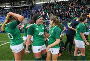 2 February 2020; Nichola Fryday, left, and Beibhinn Parsons of Ireland during the Women's Six Nations Rugby Championship match between Ireland and Scotland at Energia Park in Donnybrook, Dublin. Photo by Ramsey Cardy/Sportsfile