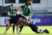 2 February 2020; Aoife McDermott of Ireland is tackled by Megan Gaffney of Scotland during the Women's Six Nations Rugby Championship match between Ireland and Scotland at Energia Park in Donnybrook, Dublin. Photo by Ramsey Cardy/Sportsfile